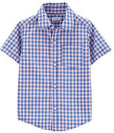 Carter's Toddler Boys Short Sleeve Button-Front Shirt