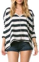 Amuse Society Women's Stripe Oversize Pullover