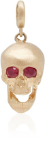 Luis Morais Large Skull Charm with Moveable Jaw and Gemfields Ruby Eyes
