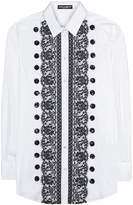 Dolce & Gabbana Lace-trimmed cotton shirt