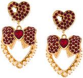 Dolce & Gabbana heart bow earrings