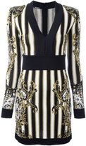 Balmain striped baroque dress