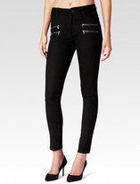 Paige Edgemont Pant - Black Stretch Suede