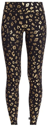 Terez Foil-Printed Tall Band Leggings