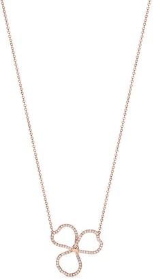Tiffany & Co. & Co. Paper Flowers diamond open flower pendant in 18k rose gold