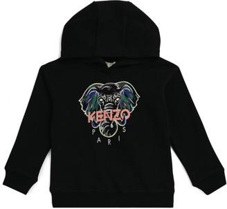 Kenzo Zip-Up Logo Hoodie