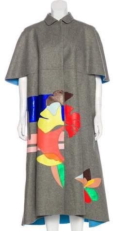 DELPOZO Wool Long Coat