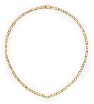 Anita Ko 18kt Yellow Gold Diamond Cuban Link Necklace