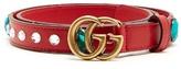 Gucci Embellished GG-logo 2cm leather belt