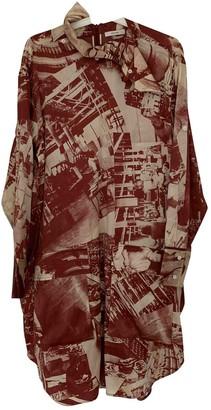 Celine Burgundy Silk Top for Women
