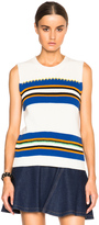 MSGM Striped Sleeveless Sweater