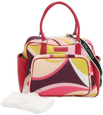 Emilio Pucci Elisse Printed Nylon Changing Bag