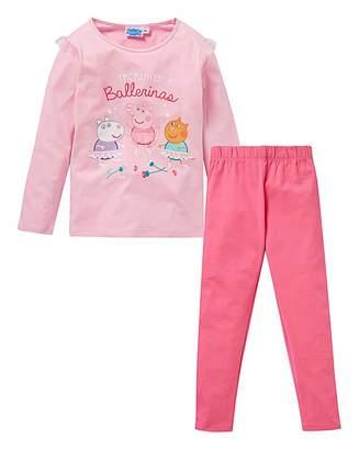 Peppa Pig Girls Long Sleeve Pyjamas