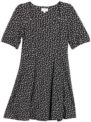 Socialite Ditsy Floral Puff Sleeve Dress
