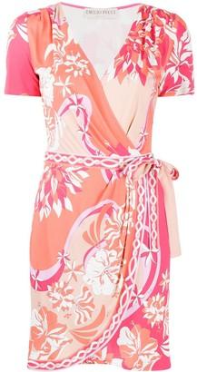 Emilio Pucci Floral-Print Wrap Dress