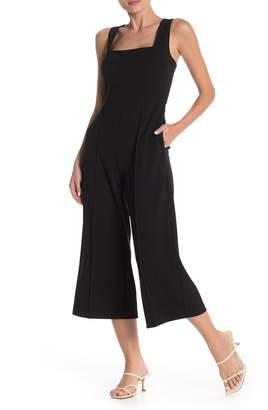 Donna Morgan Square Neck Sleeveless Crepe Wide Leg Jumpsuit
