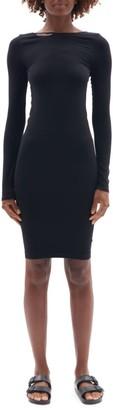 Helmut Lang V-Back Seamless Bodycon Dress