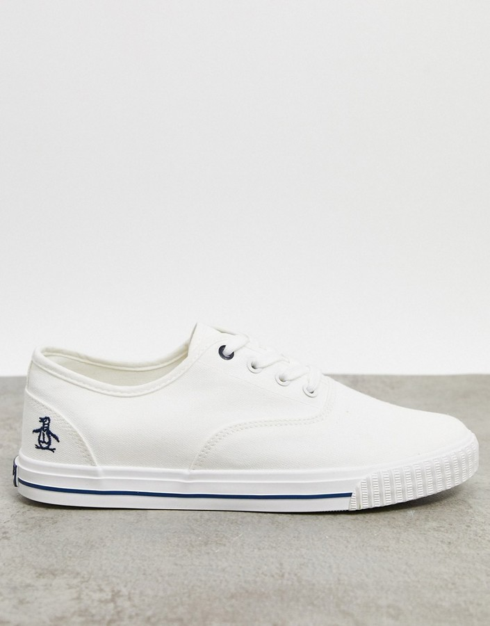 Original Penguin White Men's Shoes
