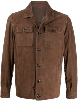 Barba Fitted Shirt Jacket