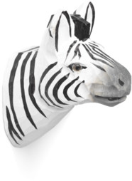 ferm LIVING Hand Carved Animal Hook Zebra