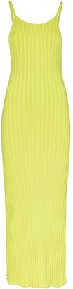 Simon Miller ribbed U-neck midi dress