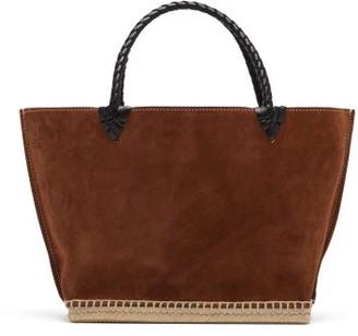 Altuzarra Espadrille Small Suede Tote Bag - Womens - Brown