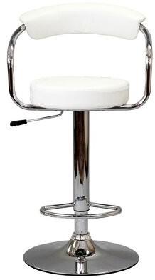 Modway Diner Adjustable Height Swivel Bar Stool Upholstery: White