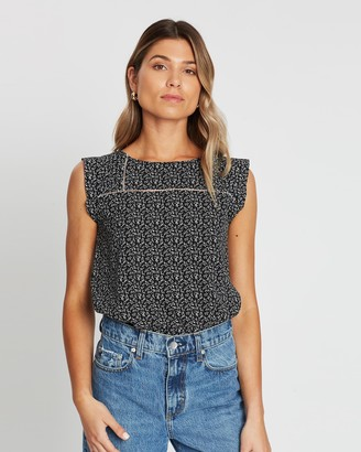 Atmos & Here Carly Crochet Insert Top