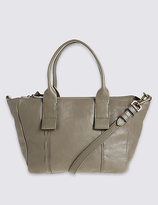 M&S Collection Leather Casual Grab Tote Bag