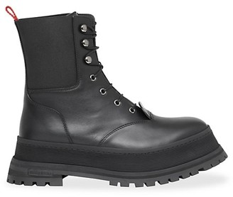 Burberry Springton Leather Combat Boots