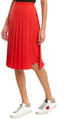 Burberry Cady Stretch Silk-Lined Pencil Skirt