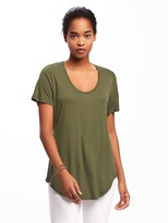 Old Navy Relaxed Curved-Hem Tee for Women