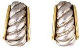 Oscar de la Renta Two-tone Clip-On Earrings