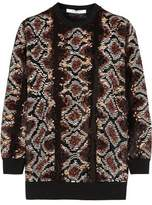 Givenchy Sweater In Python Sequined Silk-Chiffon