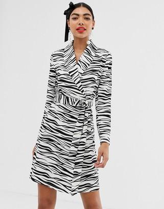 UNIQUE21 zebra print wrap dress