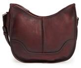 Frye Cara Leather Saddle Bag - Purple