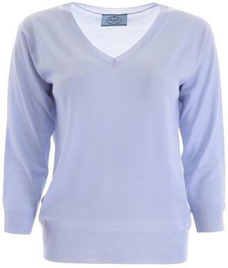 Prada V-Neck Knitted Sweater
