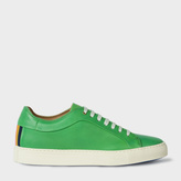 Paul Smith Men's Green Calf Leather 'Nastro' Trainers