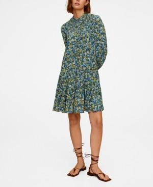 MANGO Printed Stretch Dress