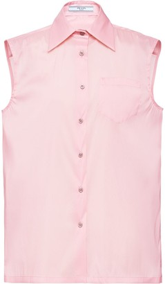 Prada Sleeveless Silk Shirt