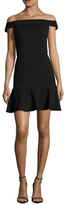 ABS by Allen Schwartz Crepe Scuba Peplum Hem Dress