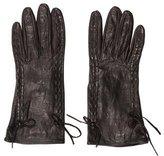 Miu Miu Woven Leather Gloves