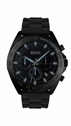 HUGO BOSS Mens Chronograph Quartz Watch with Silicone Strap 1513666