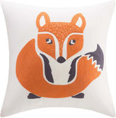 INK + IVY INK+IVY Kids Foxy Square Embroidered Decorative Pillow