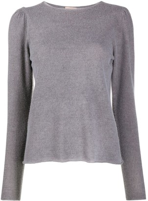Nude Crew Neck Knitted Top