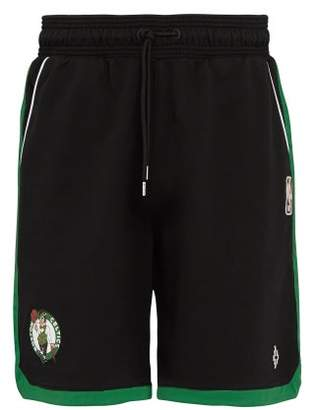 Marcelo Burlon County of Milan Black Boston Celtics Basketball Shorts - Mens - Black Green