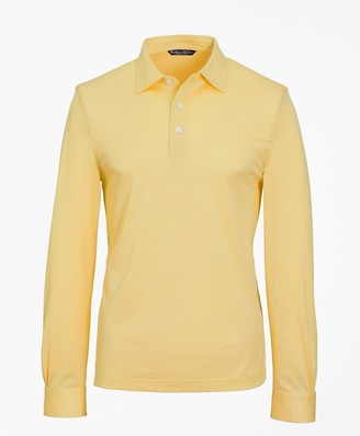 Brooks Brothers Premium Extra-Fine Supima Cotton Pique Long-Sleeve Polo