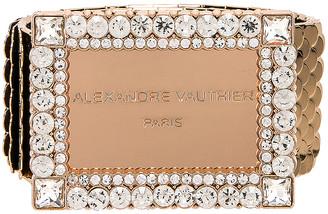 Alexandre Vauthier Gold Plated Brass Belt in Gold | FWRD