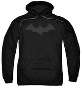 Batman DC Comics Hush Bat Logo Grey on Adult Pull-Over Hoodie