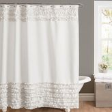 Bed Bath & Beyond Amelie Ruffle 54-Inch x 78-Inch Shower Curtain in White